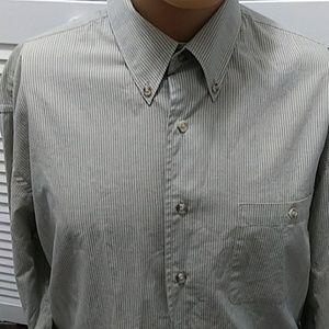 "J.RIGGINS Pinstripe Shirt L 16""/16.5"